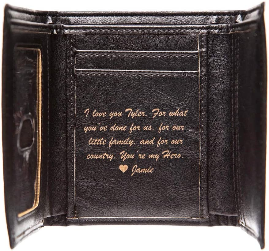 NEW Swanky Badger Columbus Mall Personalized Max 58% OFF Leather Wallet - Trifold