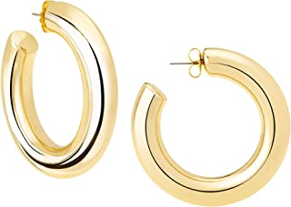 High Polished Large Hoop Earrings
