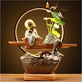 Home Equipment Indoor fountain Creative Fountain Flowing Water Ornaments Feng Shui Lucky Back Flow Incense Burner Living R...