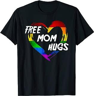 LGBT Pride Shirt Free Mom Hugs-Heart LGBT Flag Outfit