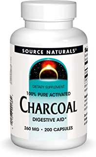 Source Naturals Charcoal - 100% Pure Activated, Digestive Aid - 200 Capsules