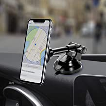Amoner Magnetic Phone Car Mount, Universal Phone Holder for Car Dashboard Windshield, One Hand Operation, Compatible with iPhone, Samsung and More Smartphones Between 4.5-6.8 inches
