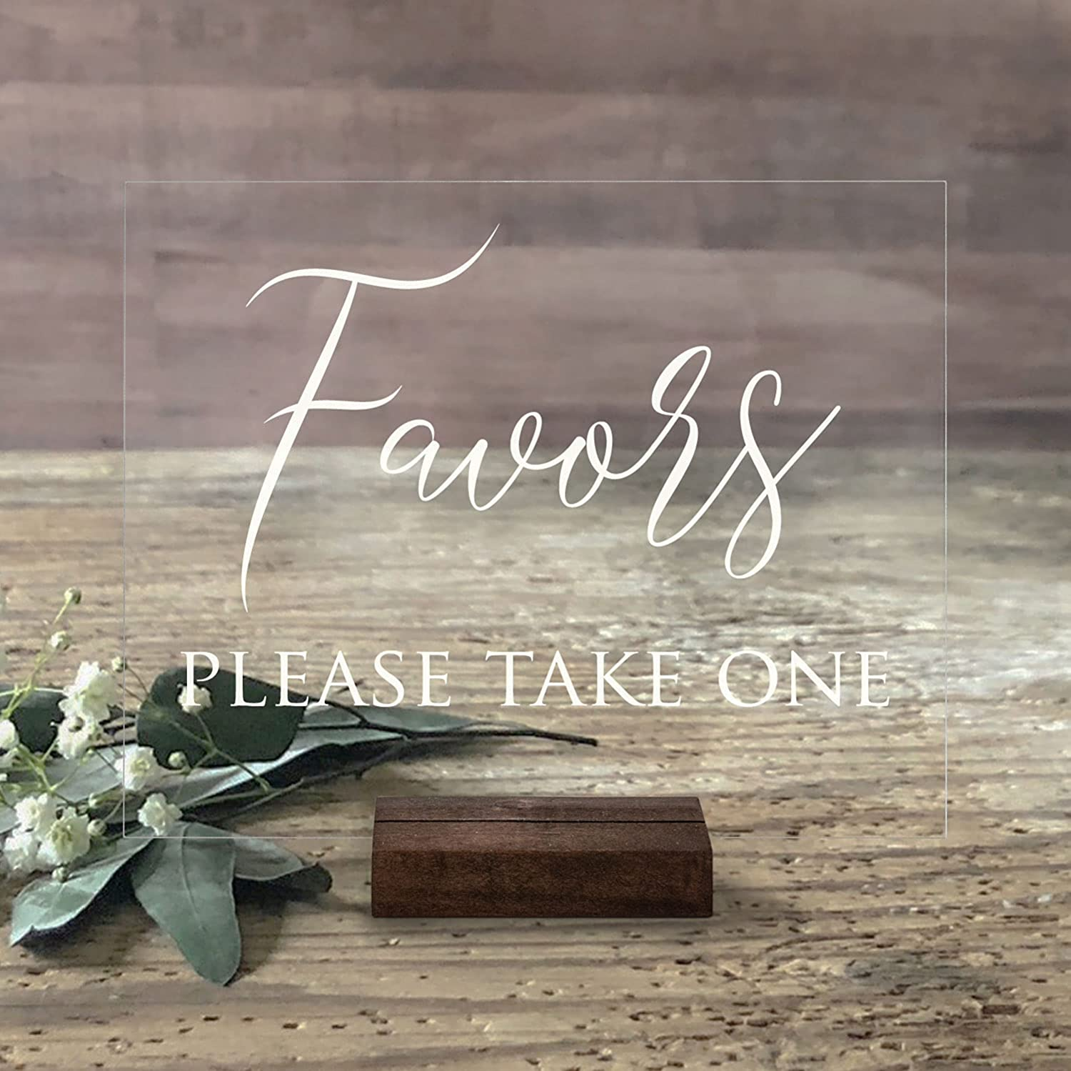 Acrylic Wedding Favors Sign Please Take Special sale item security Sig One