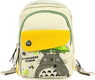 Totoro - Mochila/bandolera para niños o mujer, lona, color gris