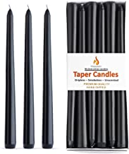 Unscented Hand Dipped Taper Candles | 12 Dripless, Smokeless Candlesticks with an Ultra Long 8 Hour Burn Time | Ideal for ...