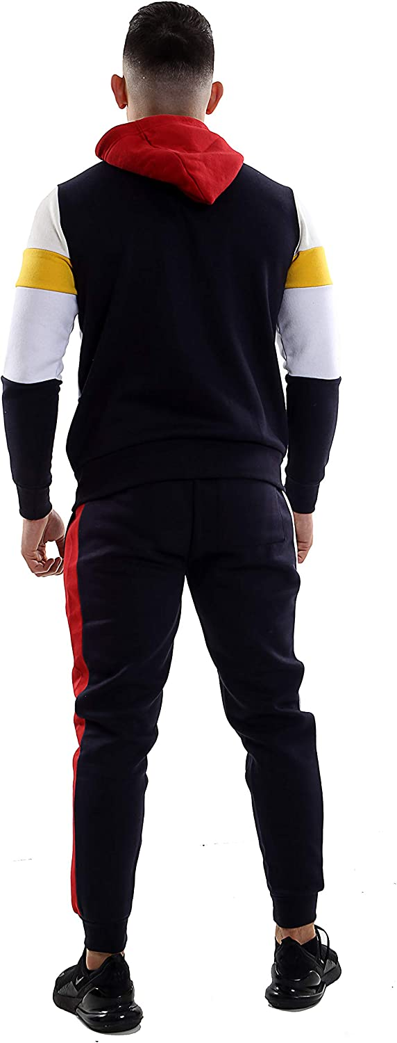 Small to 5XL Parsa Fashions /® Mens Tracksuit Set Full Sleeve Fleece Zipper Hoodie Top Bottoms Jogging Joggers Gym CONTRAST And PLAIN Available in PLUS SIZES