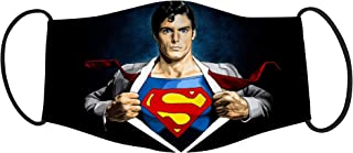Vista Kids Superman printed Mask- Cotton Reusable Washable Mask Size 18x10cms