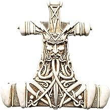 Viking God Thor Bone Hammer Mjolnir Thunder Wall Plaque Home Decor Statue Figurine