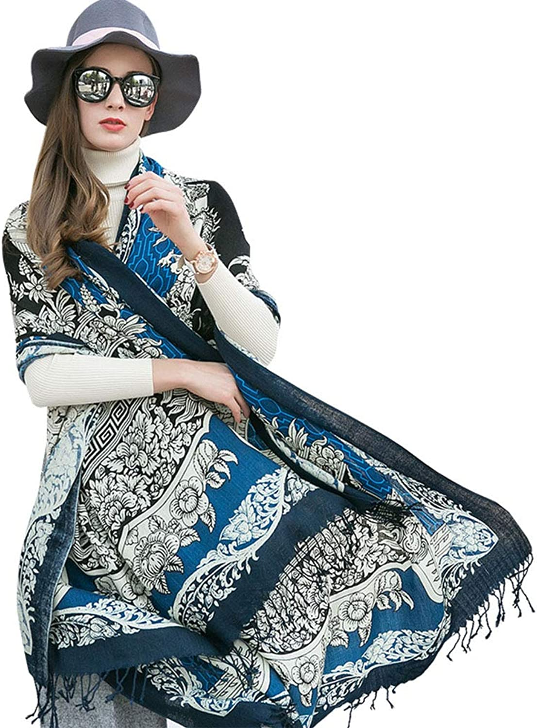 Scarves ShawlLong Cloak Cloak Spring and Autumn Warm Wool Scarf Ladies Winter Large Shawl Oversized Size Gift Box Warmth 100% Wool Birthday Gift for Girlfriend Stoles