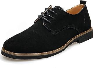 [WEWIN] ウェウィン ビジネスシューズ メンズ 皮革スエード 軽量 紳士靴 オックスソール カジュアルシューズ 外羽根 レースアップシューズ ウォーキング 革靴 通勤 通学