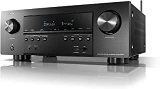 Denon AVR-S940H Receiver, 185W Power, 7.2 Channel 4K Ultra HD Video, Amazing 3D Dolby Surround Sound, Music Streaming System, Alexa Control, HEOS Wireless Speaker Expansion, TV and Projector Outputs