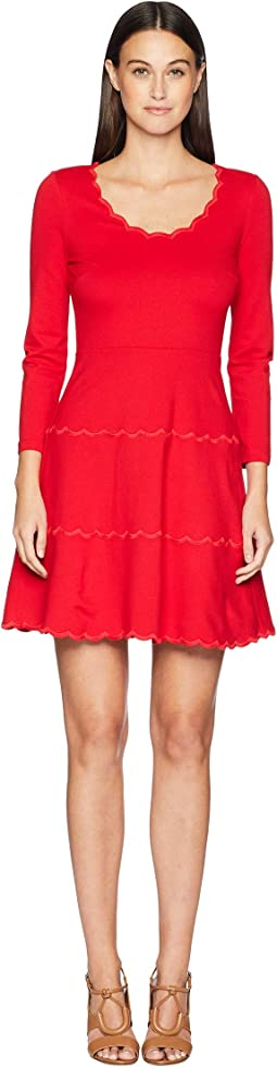 Broome Street Scallop Ponte Dress