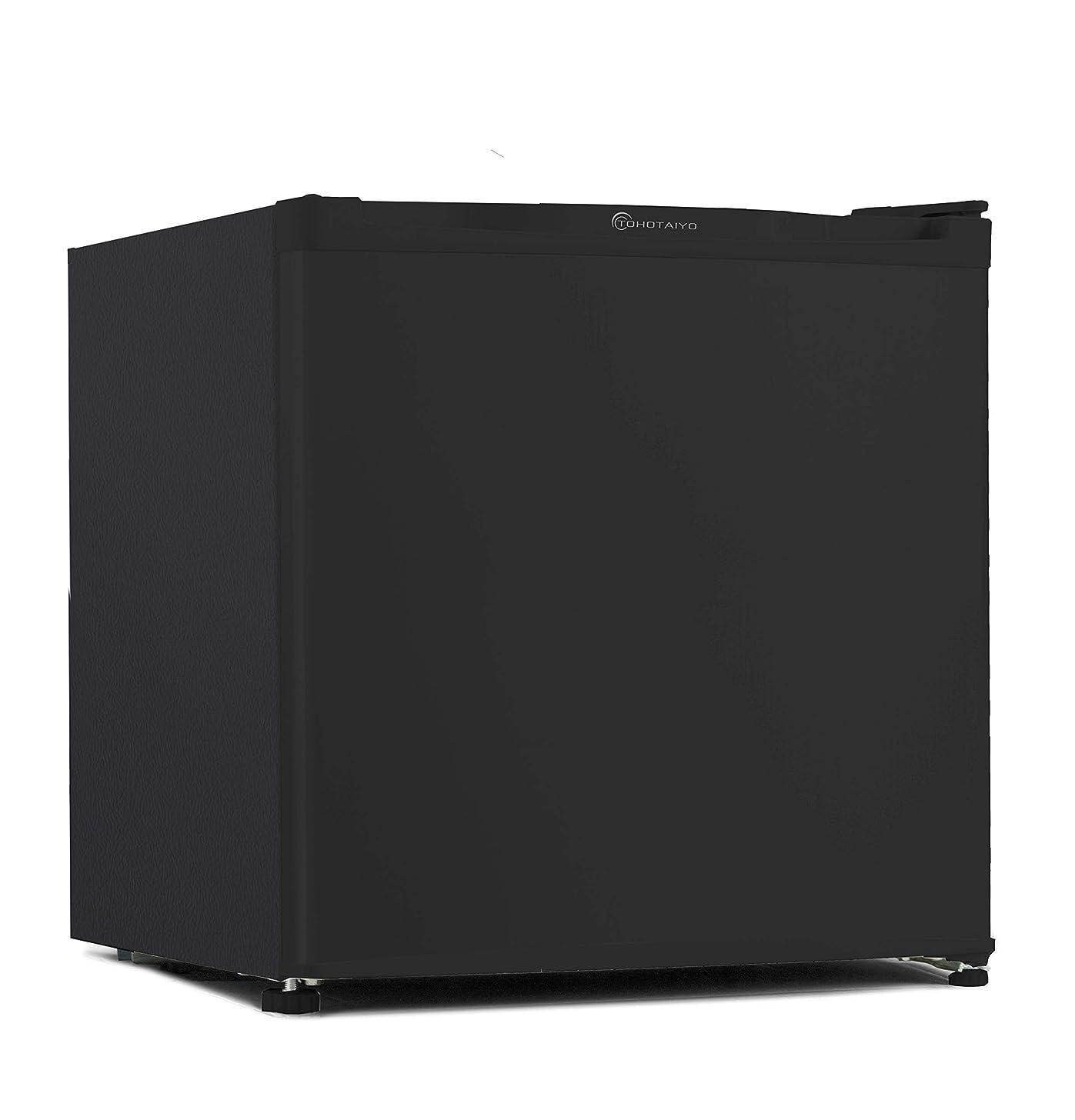 TOHOTAIYO 1ドア 小型 冷蔵庫 46L 一人暮らし向け 左右開き対応 ブラック TH-46L1-BK