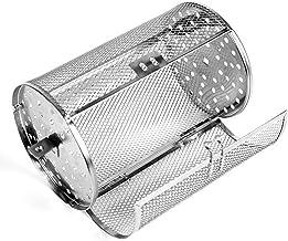 QOTSTEOS Gril de rôtissoire d'acier Inoxydable, Panier de Four de Cages de Four de Chauffage rotatives de 360 degrés, Tamb...