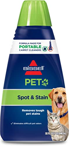 Bissell 74R7 Pet Stain & Odor Portable Machine Formula, 32-Ounce, Fl Oz