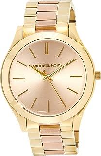 Michael Kors Slim Runway Watch for Women - Analog Stainless Steel Band - MK3493