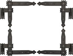 KOTARBAU® Hoekband 250 x 230 mm met klokken 4 x scharnier raamluik hoekscharnier deurband deurband deurband deurband zwart...