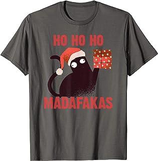 Ho Ho Ho Madafakas Funny Cat I Disfraz Pijamas Gato de Camiseta