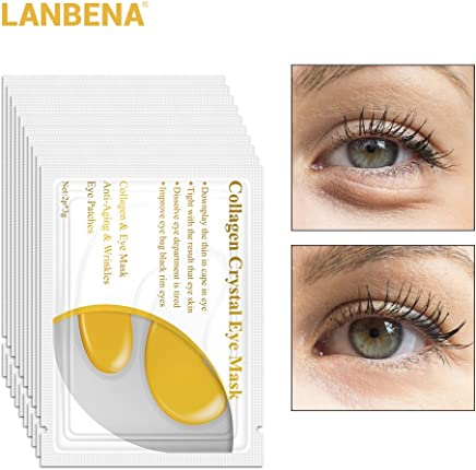24 K Gold Collagen Eye Mask Face Care Ageless Anti Aging Eye Bags Dark  Circles Moisturizing 7069705d042b9