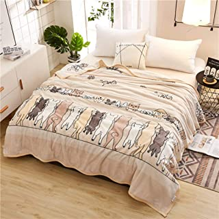 Smibra Floral Blankets Kids/Adults/Pets Cozy&Warm Blankets Beautiful Pattern Bedding Throw Plush Couch Blankets for All Seasons-002(W60 x L78 Inch, Brown)