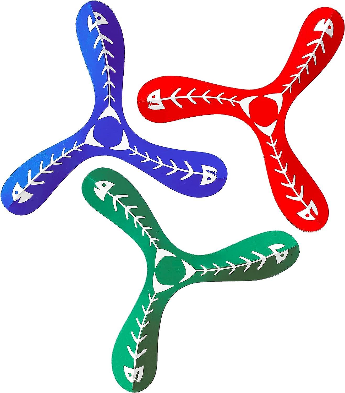 Flick Boomerangs 3 Pack - Easy to Learn, Short Range Boomerang (