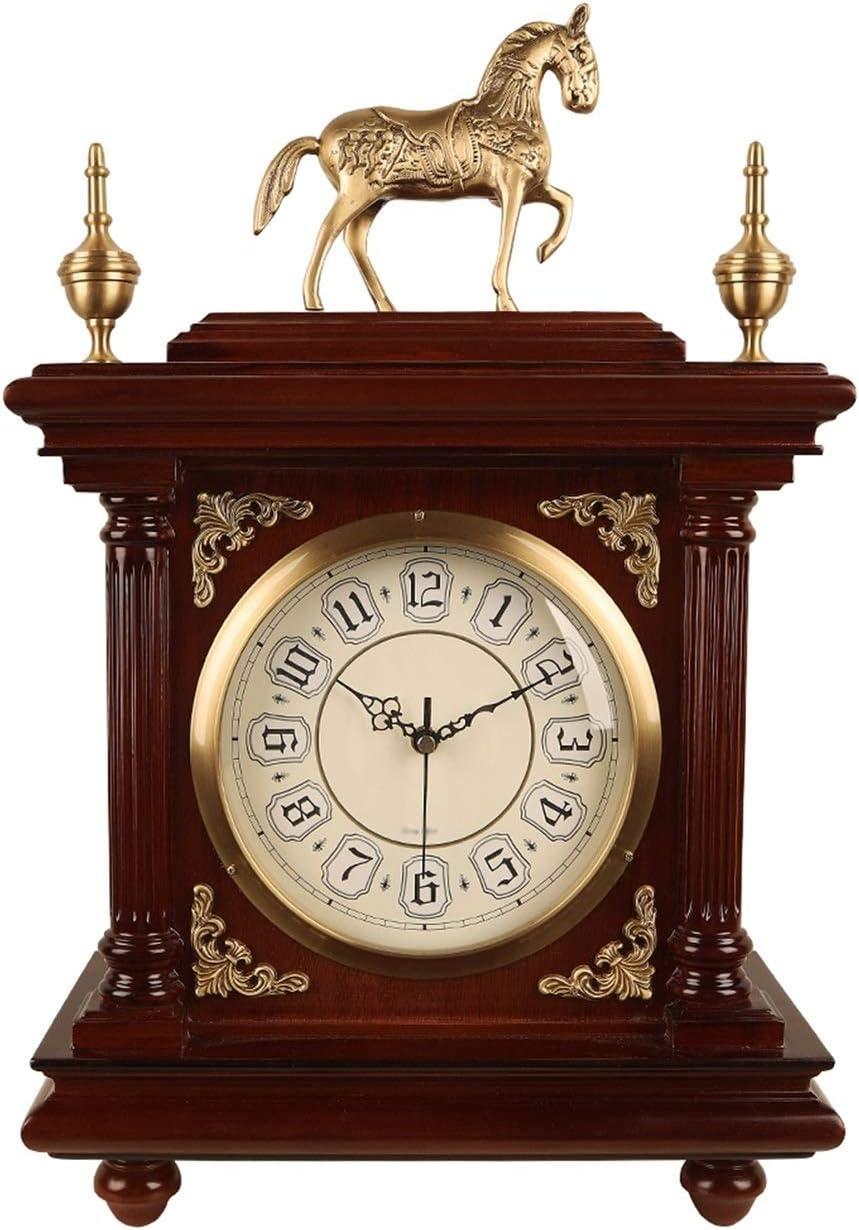 Liushop free Desk Clock trust Retro Brass Arabi Decoration with
