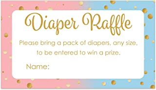 Baby Gender Reveal Party Diaper Raffle Tickets - Invitation Insert Cards (25 Count)