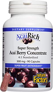 AcaiRich by Natural Factors, Super Strength Acai Berry Concentrate, Superfruit Antioxidant Supplement, 90 capsules (90 ser...