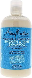 Shea Moisture Argan Oil & Almond Milk Smooth & Tame Shampoo for Unisex, 13 Ounce