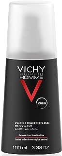 Vichy Homme 24 Hour Protection Men's Deodorant Spray, 3.38 Fl. Oz.