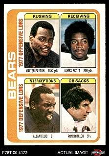 1978 Topps # 504 Bears Leaders & Checklist Walter Payton/James Scott/Allan Ellis/Ron Rydalch Chicago Bears (Football Card) Dean's Cards 1.5 - FAIR Bears