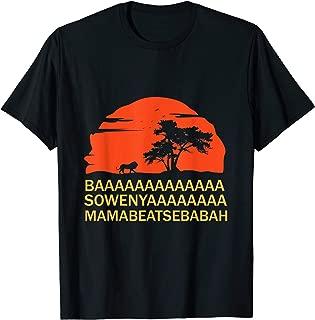 BAAA SOWENYAAA African King Lion Shirt
