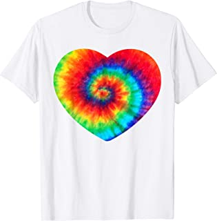 Tie Dye Peace Heart Shirt | Cute Colorful Rainbow Sign Gift