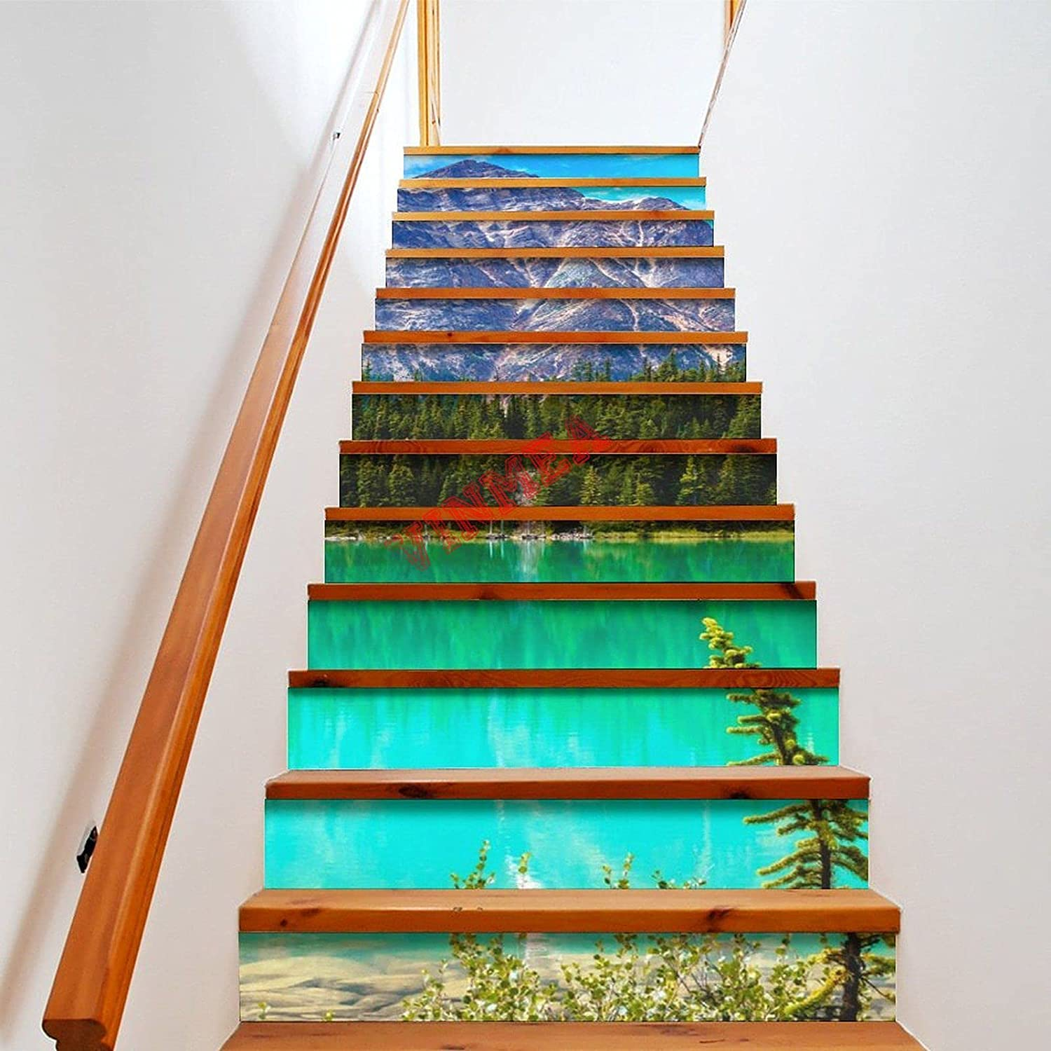 National products 3D Stairway Decal Vinyl Canadian Staircase 13pcs M Rockies10 Houston Mall DIY