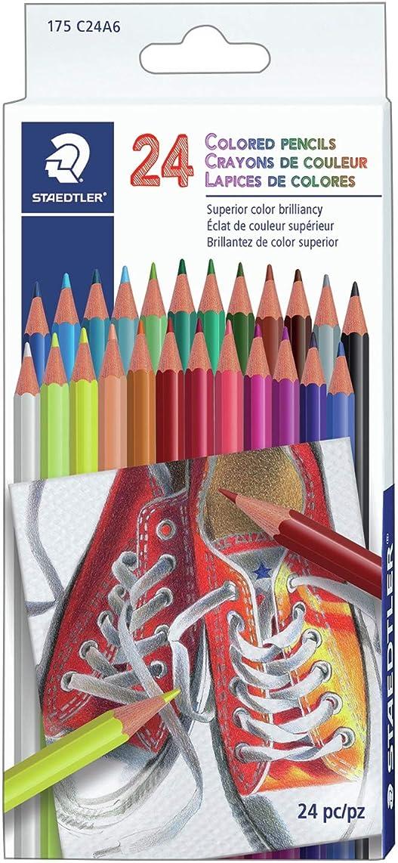 Staedtler C24A6 Colored Pencils 24/Pkg