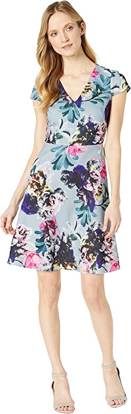 Mystic Floral Fit and Flare Dress
