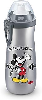 NUK 10255415 Disney Mickey Mouse Sports Cup - Botella para niños (a partir de 36 meses, antigoteo, sin BPA, 450 ml), diseño de Mickey Mouse gris gris