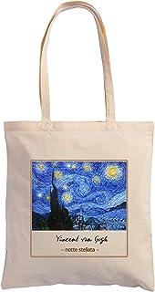 Hole Gadget S.r.l Shopping Bag de algodón 100 % de tela natural ecológica, bolsa con ilustraciones pictorias e impresiones...