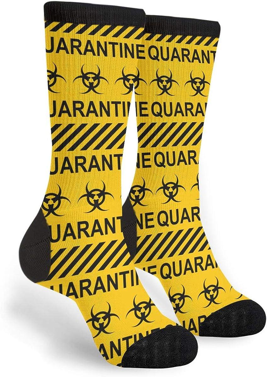 Yellow Black Ranking TOP7 Stripes Quarantine Special price Zone Fun Socks Women's Men's Nov