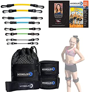Kinetic Bands Dance Leg Resistance Bands and Flexibility Strap Training Kit – Ballet Dancer Body Conditioning, Strength, E...