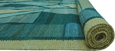 NOORI RUG Sangat Kilim Perihan Ivory/Grey Rug, 6'9 x 9'0