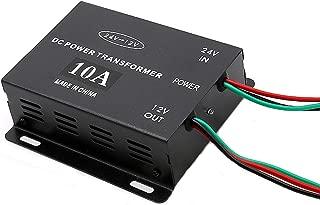 グリポッチ デコデココンバーター 24V → 12V 電圧変換機 却ファン付 DCコンバーター デコデコ変換 インバーター オーディオ DC24V→DC12V変換 (10A)