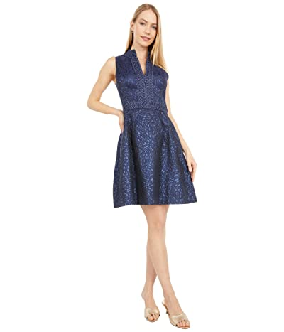 Lilly Pulitzer Franci Dress (True Navy Lagoon Jacquard) Women