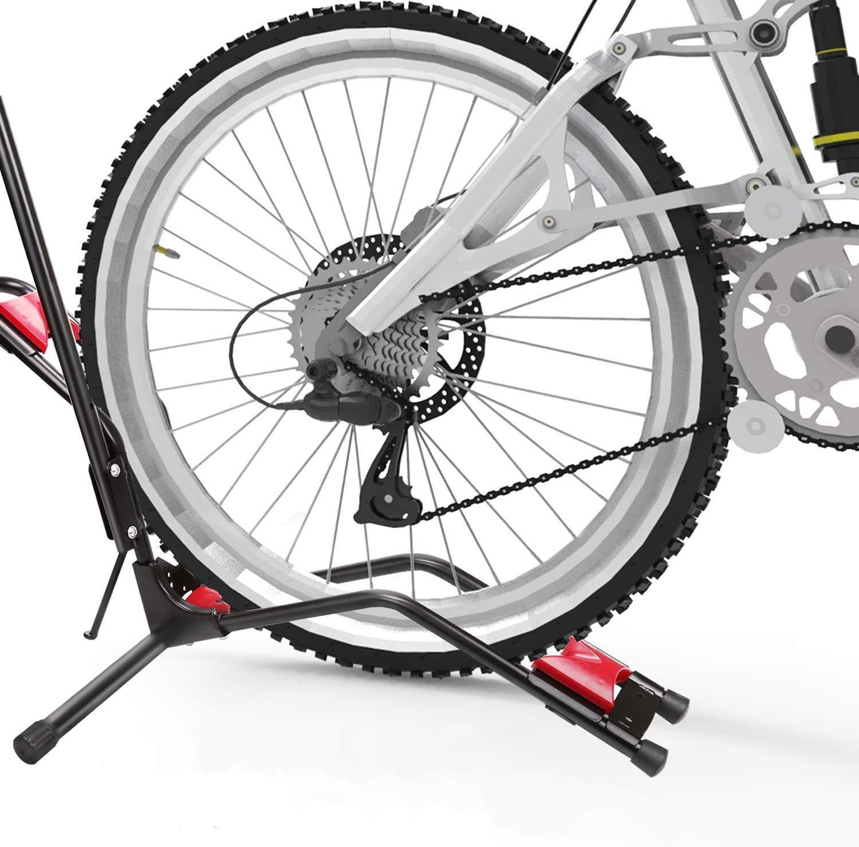 Soporte de bicicleta vertical para bicicleta, soporte de bicicleta ajustable, rueda delantera/rueda trasera/aparcamiento vertical para casi todas las bicicletas: Amazon.es: Deportes y aire libre
