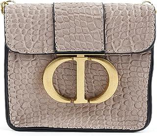 Odette Pink Grey Boxy Clutch