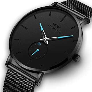 OLMECA Men's Watches Fashion Simple Watches Ultra Thin...