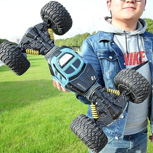 Luccky Kinder Spielzeug Ferngesteuertes Auto Elektrische Funkgesteuerte Supercar On Road RC Auto 1 16 Modell RC Rock Crawler 2,4 GHz 4WD Dual Motoren Wiederaufladbare Fernbedienung Lkw Off Road RC Aut