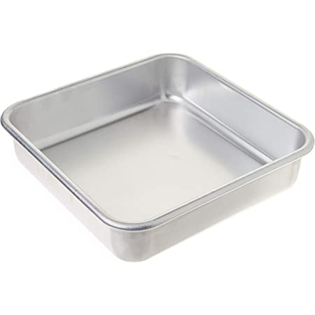 """Nordic Ware Naturals Aluminum Commercial 8"""" x 8"""" Square Cake Pan, 8 by 8 inches, Silver"""