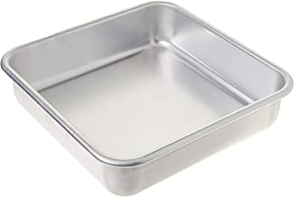 """Nordic Ware 47500 Naturals Aluminum Commercial 8"""" x 8"""" Square Cake Pan, 8 by 8 inches, Silver"""