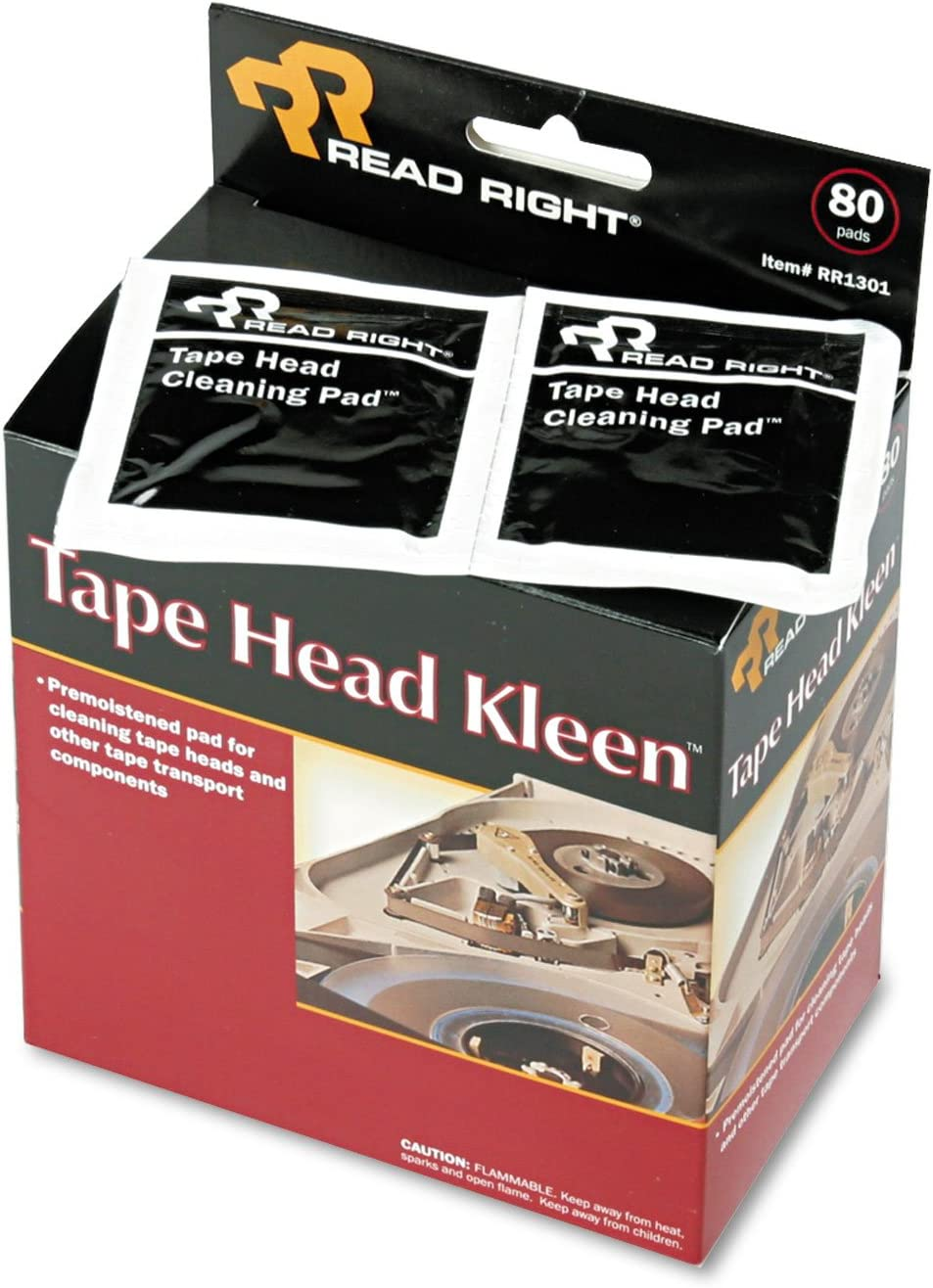 Read Right 2021 autumn and winter new RR1301 Tape Kansas City Mall Head Kleen Sealed Pad Pads Individually 5